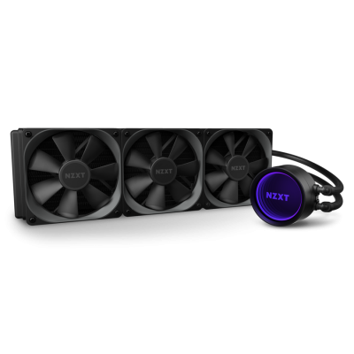 NZXT Kraken X73 360mm - RL-KRX73-01 - AIO RGB CPU Liquid Cooler - Rotating Infinity Mirror Design - Improved Pump - Powered by CAM V4 - RGB Connector - AER P 120mm Radiator Fans (3 Included)